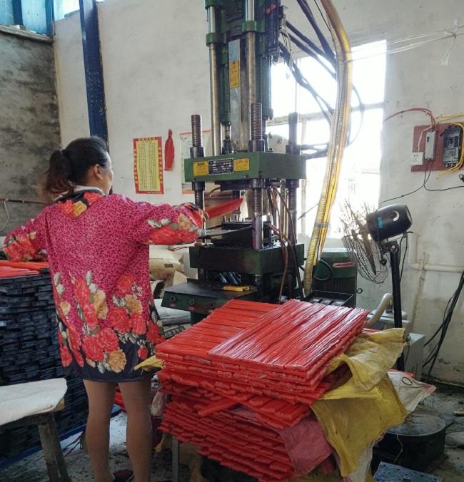 扫路刷方块形状制作机械