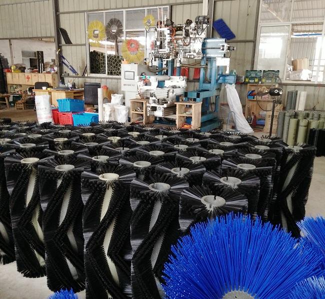 滚筒形状扫路刷生产机械